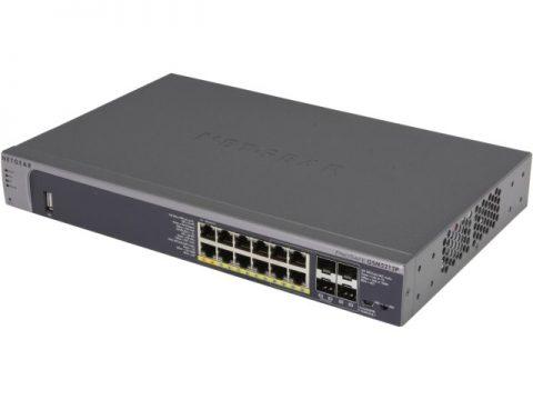 NETGEAR ProSafe GSM5212P-100NES Managed 12-Port Gigabit PoE+ Desktop L2+ Managed Switch