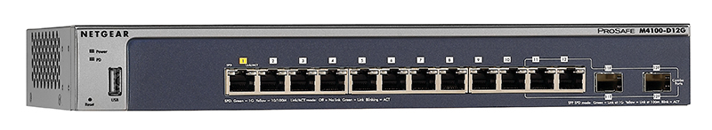 Netgear M4100-D12G 12-Port Gigabit Managed Switch (GSM5212-100NES) New