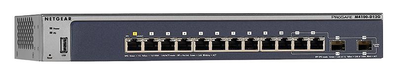 Netgear M4100-D12G 12-Port Gigabit Managed Switch (GSM5212-100NES) New