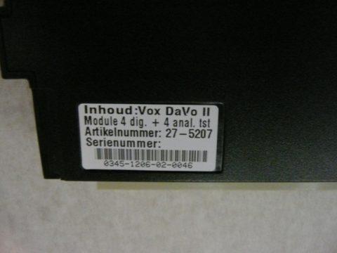 Vox Davo 2 Uitbreidings kaart module 4x digital 4x analoge